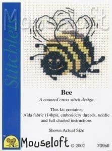 Mouseloft Bee Stitchlets cross stitch kit
